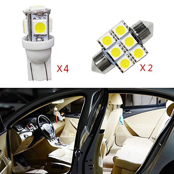 2x Mercedes G-Class W463 Bright Xenon White LED Number Plate Upgrade Light Bulbs