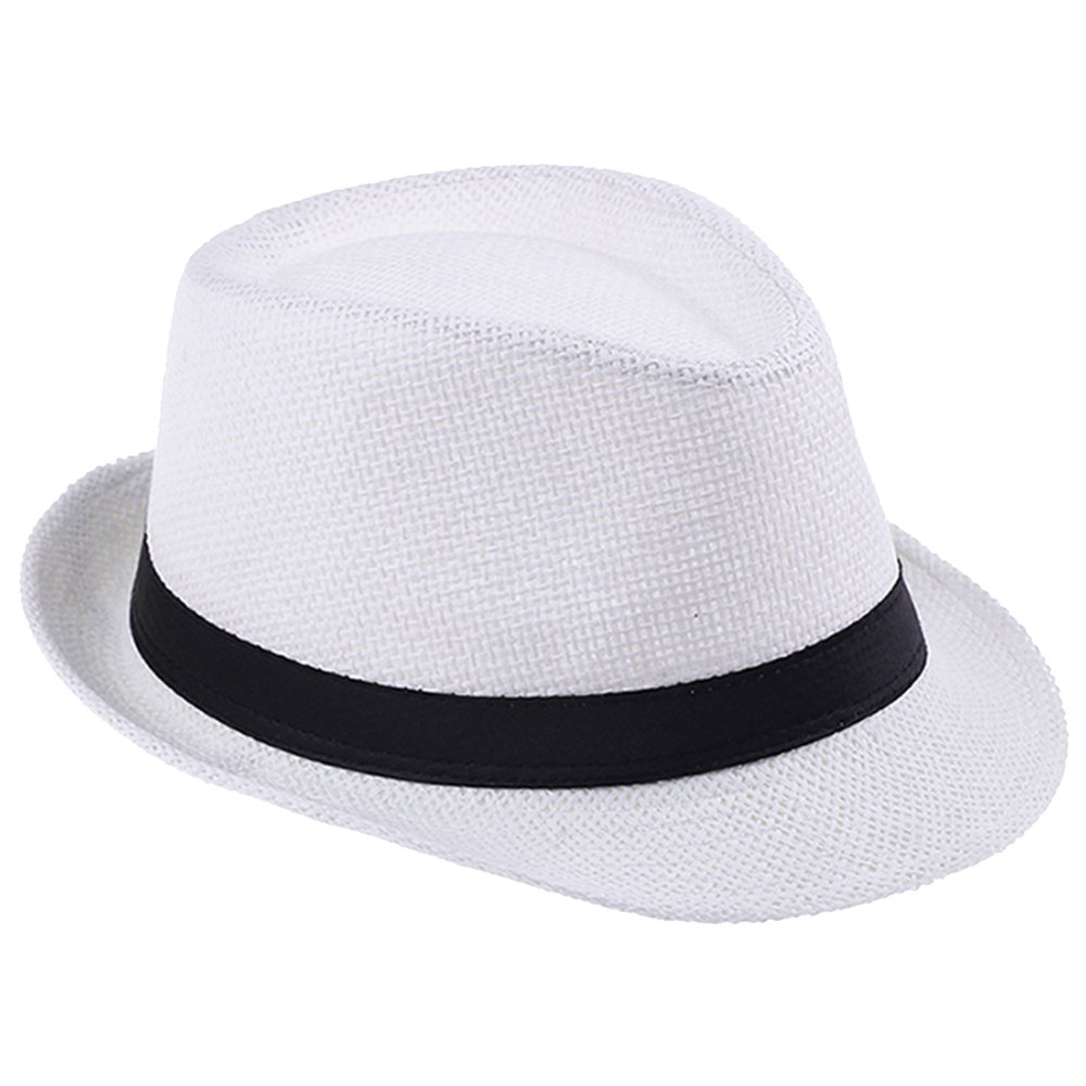 HaHaPo Women Summer Straw Sun Hat Boho Beach Fedora Hat Sunhat Trilby Men Panama Hat
