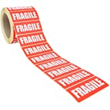 Fragile Warning Stickers / Labels: White on Red 89x36mm 1,000 / Pack