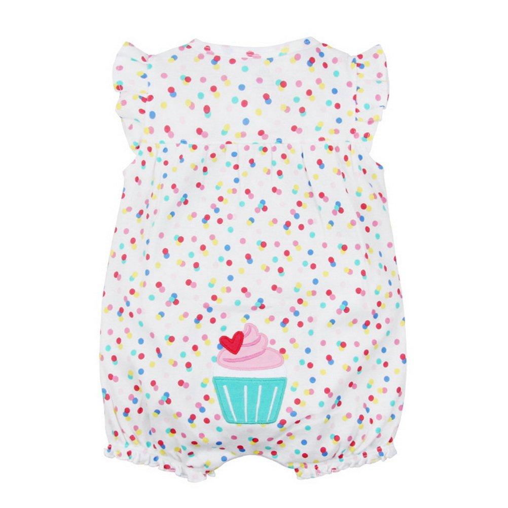 ARAUS Tute Outfit Body da Neonato 0-24 Mesi Jumpsuit Stampata a Manica Corta Estive 6940P10