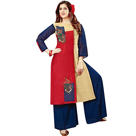 Ladyline Designer Long Partywear Embroidered Kurti Topevening Gown