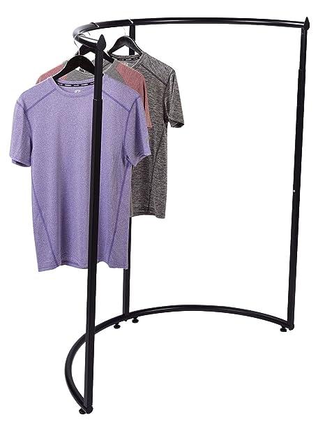 Amazon.com: Semicircular estante de ropa de color negro ...