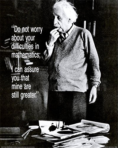 Einstein Worry Quote Photo Poster product image