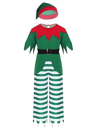 TiaoBug Disfraz Elfo Niños para Navidad Traje Navideño Fiesta ...