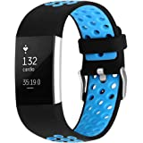 Silicone Band for Fitbit Charge 2 Adjustable Replacement Strap Sports Wristband Bracelet for Fitbit Charge 2 Fitness Tracker
