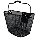 Projekt Custom Bikes Black Steel Mesh Bike Basket with Quick-Release Bracket