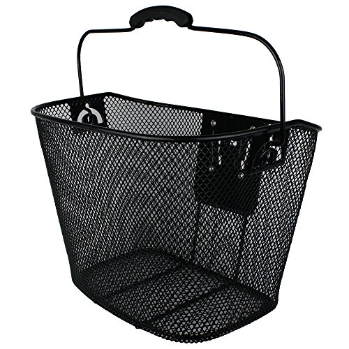 Projekt Custom Bikes Black Steel Mesh Bike Basket with Quick-Release Bracket by Projekt Custom Bikes