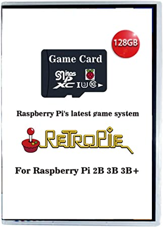 New Latest Version from InstantArcade Limited Introductory Price ! Retropie 128Gb Black Edition microSD card Raspberry Pi 3BB+