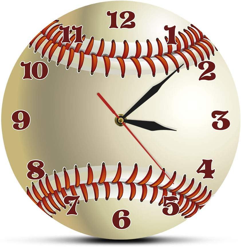 HFWYF Aficionados al béisbol de 12 Pulgadas (30 cm) Reloj de Pared Personalizado Relojes Impresos Jugadores del Equipo de béisbol béisbol Nombres Personalizados Regalos Deportivos