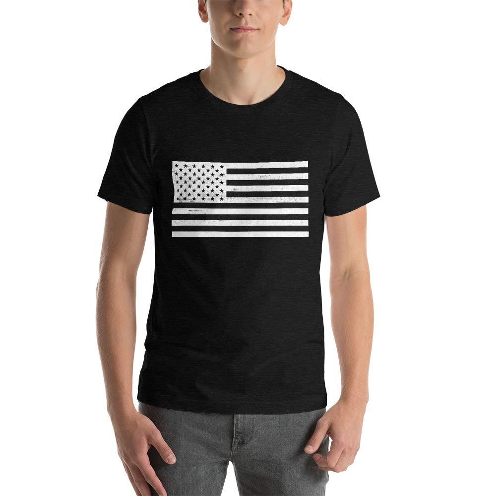 SLLK American Flag Mens Short-Sleeve Unisex T-Shirt