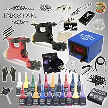 a6a0f5aa55113 Image Unavailable. Image not available for. Color: Complete Tattoo Kit  Inkstar Journeyman Rotary Machine Gun Power Supply ...