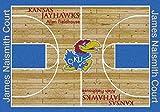 Milliken 4000018299 Kansas College Home Court Area Rug, 3'10'' x 5'4''
