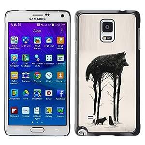 Caucho caso de Shell duro de la cubierta de accesorios de protección BY RAYDREAMMM - Samsung Galaxy Note 4 SM-N910 - Trees Abstract Meaning Nature