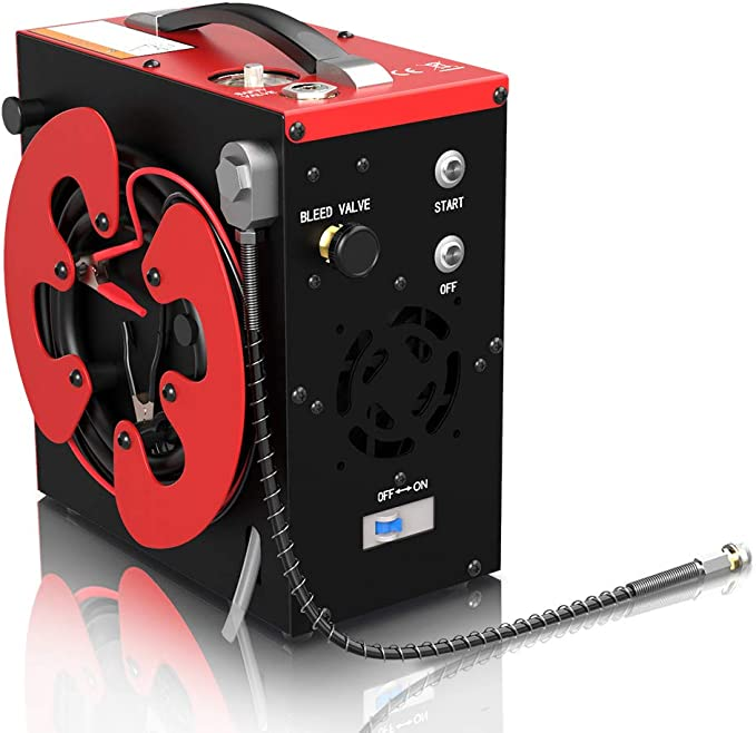 Gx Cs3 Tragbarer Pcp Kompressor Automatischer Stopp 4500psi 30mpa 300bar ölfrei Mit Wasser Öl Filter Angetrieben Durch 12v Dc Autobatterie Oder Home 220v Ac Scuba Luftkompressor Baumarkt