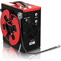 GX CS3 PCP Air Compressor, Auto-Stop,Oil-Free, Built-in Water-Oil Separator Filter, Powered by Car 12V DC or Home 110V…