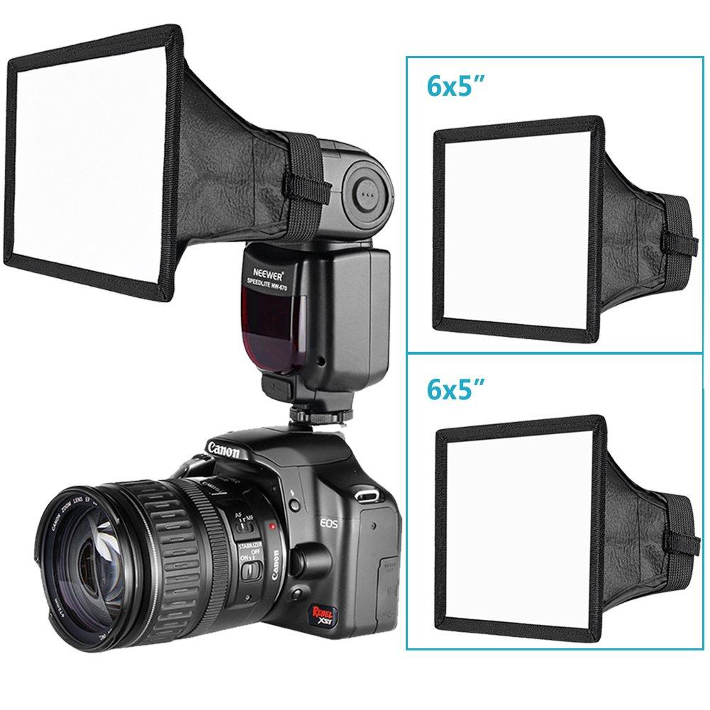 Nikon SB-900 SB-910 YongNuo YN560 III Neewer 2-Pack 6x5 inches//15x13 centimeters Speedlite Softbox Flashlight Diffuser Kit for Canon 580EX II 600EX-RT Neewer TT560 TT520 TT660 and Other DSLR Flash