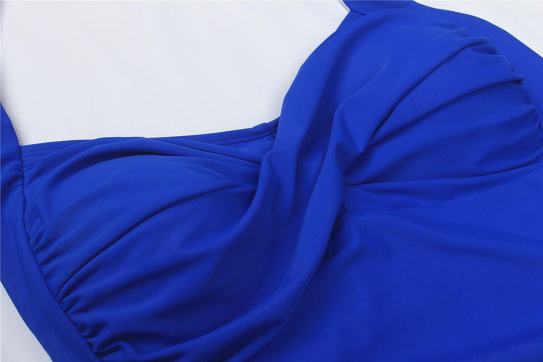 Uhnice Elegant Retro Inspired Boyleg Maillot Plus Size One Piece Ruched Swimsuit
