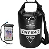 Hitorhike Dry Bag 15L 25LWaterproof Dry Bag- Roll Top Dry Compression Sack Keeps Gear Dry for Kayaking, Beach, Rafting, Boating, Hiking, Camping and Fishing with Waterproof Phone Case …