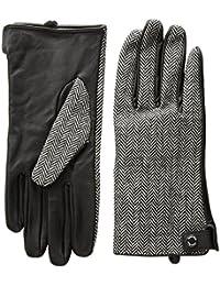 Women's Leather Palm Herringbone Glove Accessory