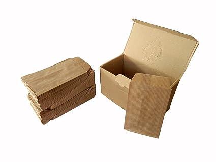 Yearol K04. 250 Sobres bolsas de papel kraft pequeñas sin asas. Especial para regalo, tiendas, comercio, joyería, bisutería, manualidades, etc. 7 cm. ...