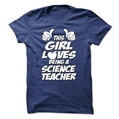 Esta chica ama ser un profesor divertido ciencia T camisas: Amazon ...
