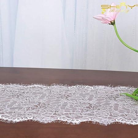 ShinyBeauty 2 manteles de Encaje Blanco para decoración de Bodas ...