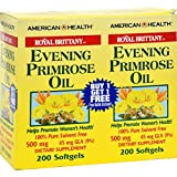 American Health Royal Brittany Evening Primrose Oil - 500 mg - 2 Bottles of 200 Softgels (Pack of 3)