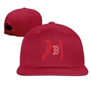 ElishaJ Casual Boston Sport Baseball Logo Trucker Hats Red