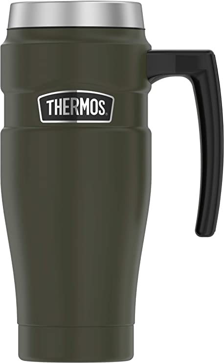 Amazon.com: Thermos - Taza de viaje con asa (acero ...