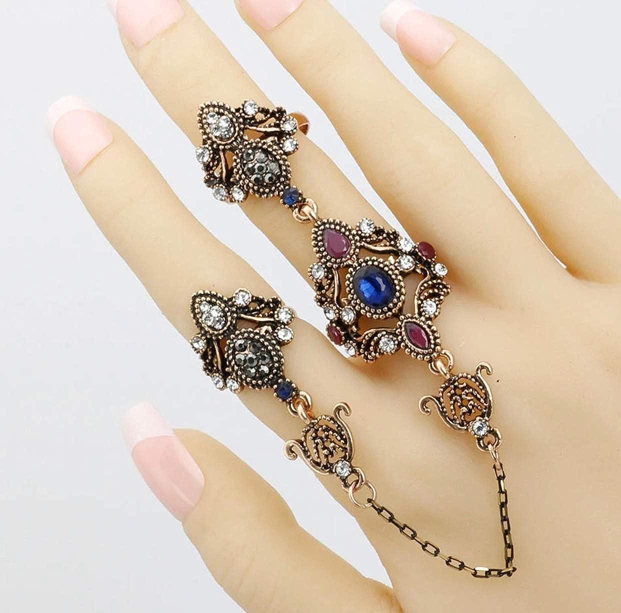 Adjustable vintage style resin owl ring