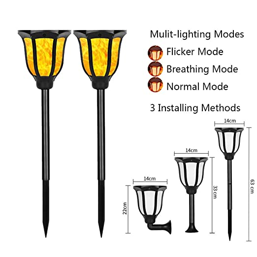 de nouveaux feux d\'éclairage solaire 3 torches de jardin ...