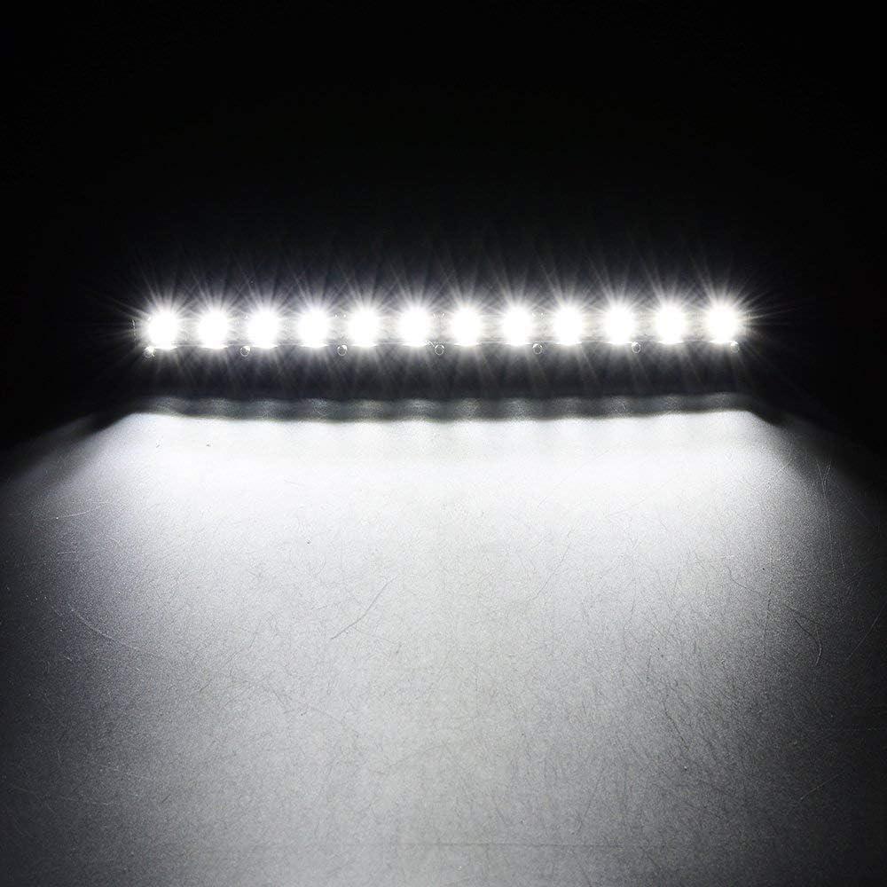Willpower 13 pouces 60W LED Barre Lumineuse Une rang/ée Flood Poutre Ultra Slim de Travail Avec Support de Montage pour Bateau Tout Terrain ATV SUV