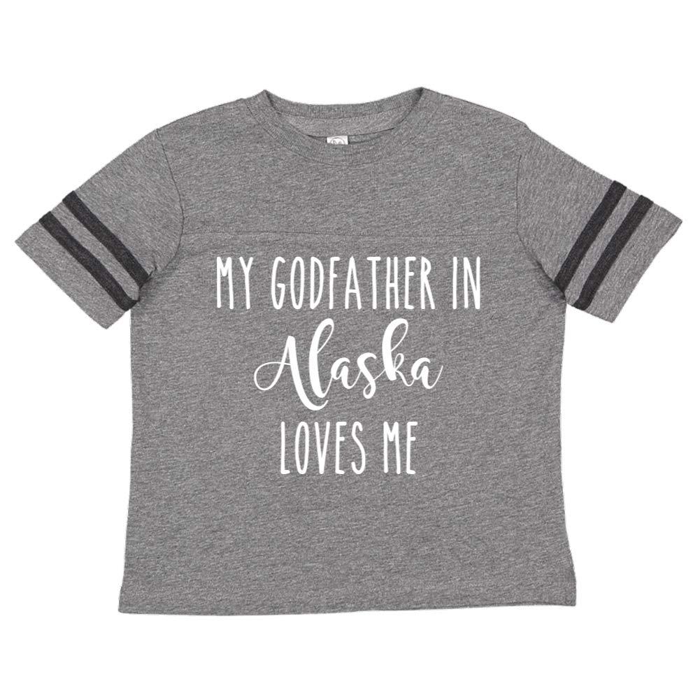 My Godfather in Alaska Loves Me Toddler//Kids Sporty T-Shirt