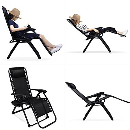 Zero Gravity Chair 2 Pack, 330lbs Weight Capacity Patio Lounge Chair,Comfortable  35.4x25