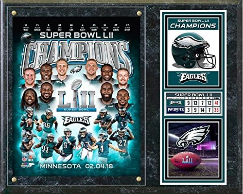 """Philadelphia Eagles Super Bowl Plaque (Size: 12"""" x for sale  Delivered anywhere in USA"""