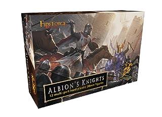 Fireforge Games Giochi di Forgiafuoco FFG 014 - Albion Knights - Figure in plastica da 28mm in miniatura su cavallo x12 - Fantasia