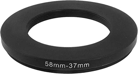 uxcell 49mm-37mm 49mm to 37mm Black Step Down Ring Adapter for DSLR Camera
