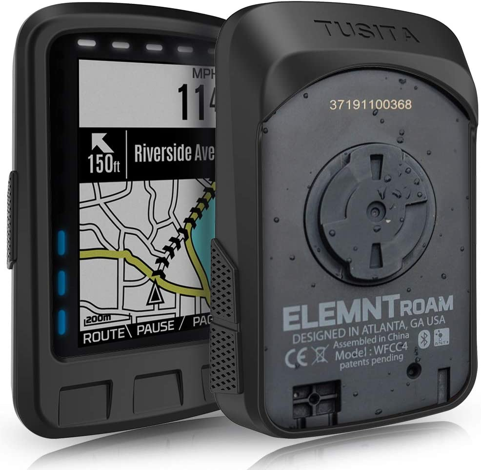 TUSITA Case for Wahoo Elemnt ROAM - Soft Silicone Protective Cover - Cycling GPS Navigation Accessories