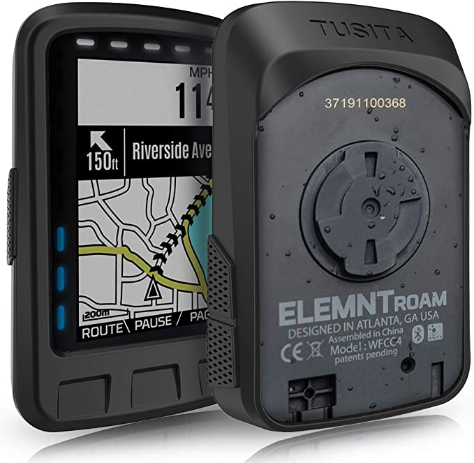Soft Silicone Bike GPS Navigation System Protective Cover kwmobile Case Compatible with Wahoo Elemnt Roam Black