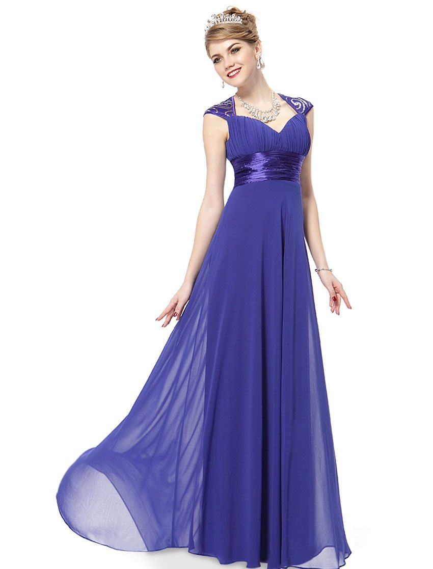 0377224a3e0 Galleon - Ever-Pretty Womens Empire Waist Formal Long Military Ball Gown 12  US Sapphire Blue