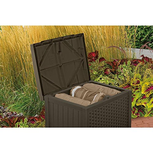 Suncast Wicker 22 Gal. Resin Storage Deck Box by Suncast