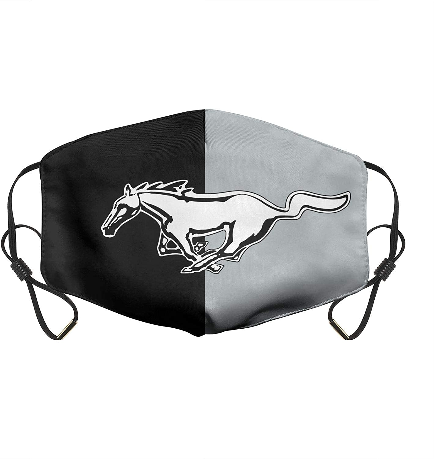 Men Women Adjustable Ford-Mustang-Logo Mouth Cover,Reusable Half Face Gas Protection Anti Dust Mouth Mouffle