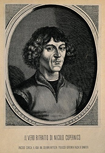 Quality Prints - Laminated 24x35 Poster Nicolaus Copernicus. Reproduction of line Engraving After J. Wellcome V0001267 ()