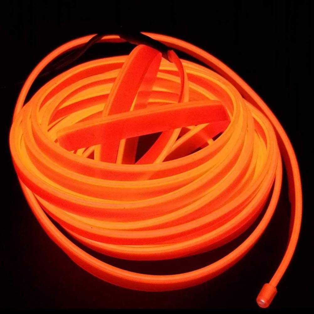 White San Jison USB EL Wire Portable Light Neon Tube Illumination 2M//6FT Electroluminescence Wires Strip Atmosphere Cold Light for Xmas Party Decoration Pub