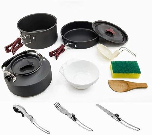 Fashion barra - Batería de Cocina portátil para Camping, 14 ...
