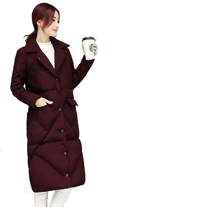 Piumino Outwear Piumino Cappotto Piumino Nihiug Lady Lungo Cappotto Lungo  Cappotto Donna  Amazon.it  Abbigliamento 7696abfec66