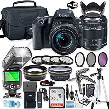 Amazon com : Canon EOS 200D Rebel SL2 Kit with EF-S 18-55mm f/4-5 6