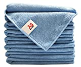 (8-Pack) 300gsm 16''x16'' Aetinstar Microfiber Cleaning Cloths for Kitchen, Home, Car, Garage - Perfect for Detailing Car, Dusting Furniture, Polishing Windows, Stainless Steel(Blue)