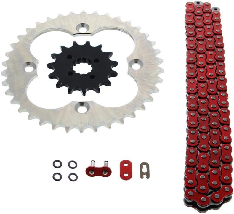 Red O-Ring Drive Chain /& Sprocket Kit Fits HONDA TRX400X 2009 2012 2013 2014