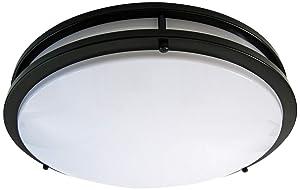 LB72124 LED Flush Mount Ceiling Light, 16-Inch, Oil Rubbed Bronze, 23W (180W equivalent) 1610 Lumens 3000K Warm White, ETL & DLC Listed, ENERGY STAR, Dimmable